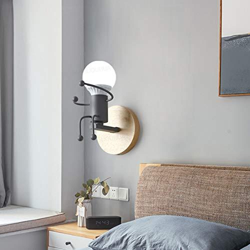 Wandlampe Schlafzimmer Wohnzimmer Korridor Bösewicht Modell Tv Hintergrund Wandbett Und Frühstück Nachttisch Nordic Creative Personality Girl Mini Lampe 12 * 22Cm