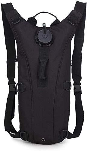 Wasserbeutel Freizeit Rucksack-Wasser-Beutel-Rucksack-Außen Militär tarnt Fahrrad-Reitsporttasche 3L Liner Wilden Tactical-Wasser-Beutel-Rucksack (Color : Schwarz)