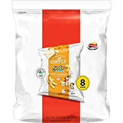 Includes 8 (7/8oz) bags of Simply Cheetos Puffs, White Cheddar flavor We make it easy to be cheesy with Simply Cheetos Crunchy & Puffs, baked to perfection and seasoned with real, melt-in-your-mouth cheese. Simply put: our Simply snacks are the ones ...