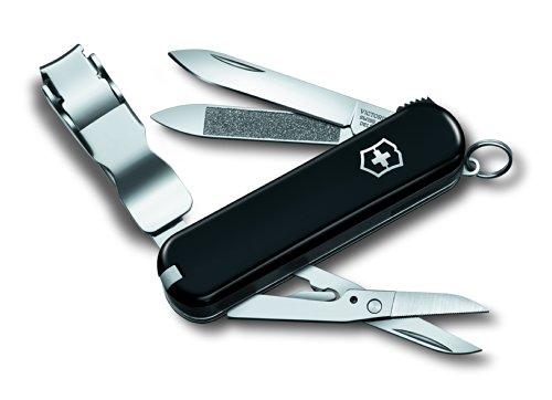 Victorinox Unisex– Erwachsene Klapp und Taschenmesser Nail Clip 580 V06463.94, Schwarz, 65 mm