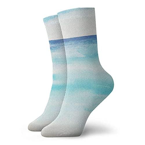 Calcetines unisex clásicos calcetines deportivos 30 cm/11.8 pulgadas regalo sopa del día letras a mano con tazón restaurante menú Happy Cafe Hour