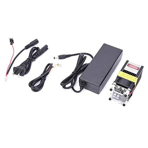 Módulo láser grabador, módulo láser azul de 5 W Modulación TTL/PWM + adaptador de corriente para grabador láser 100-240 V enchufe de EE. UU.