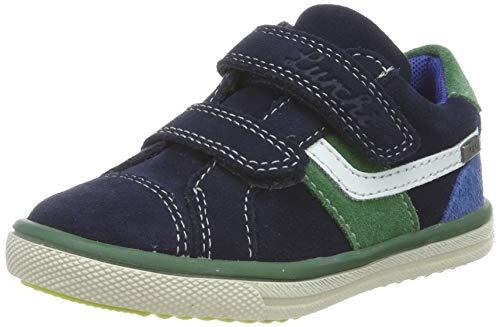 Lurchi Jungen MINO-TEX Sneaker, Blau (Navy Green 42), 24 EU