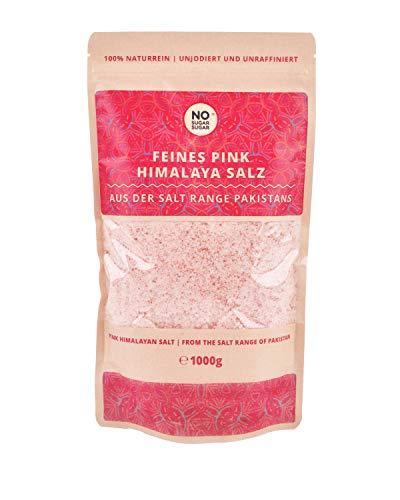 Pink Himalaya Salz, feine Körnung, Perfekt für Salzstreuer, 1 kg (Steinsalz / Kristallsalz aus Pakistan) 1kg 2kg 5kg 10kg 25kg wählbar mit großem Mengenrabatt (1 KG)
