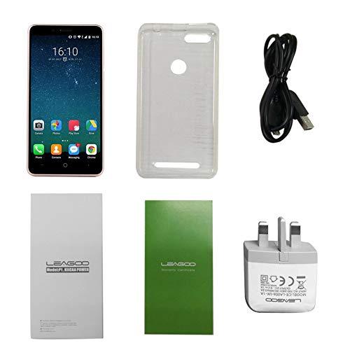 BlackUdragon LEAGOO POWER 5.0 pulgadas HD Display Quad Core Smartphone 2 GB+16 GB cámara trasera dual 3G teléfono para Android 7.0