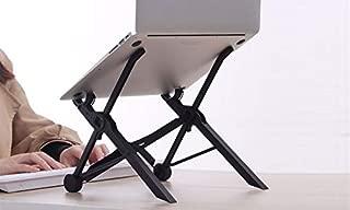 Trend Matters Multi Functional Ergonomic Laptop Table Stand - Portable Laptop Table Stand with Cooling Fan - Foldable Notebook Desk