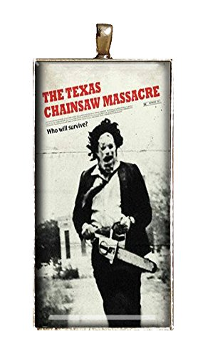 Texas Chainsaw Massacre Necklace Handmade Classic Horror Movie Jewelry Pendant Charm Gift