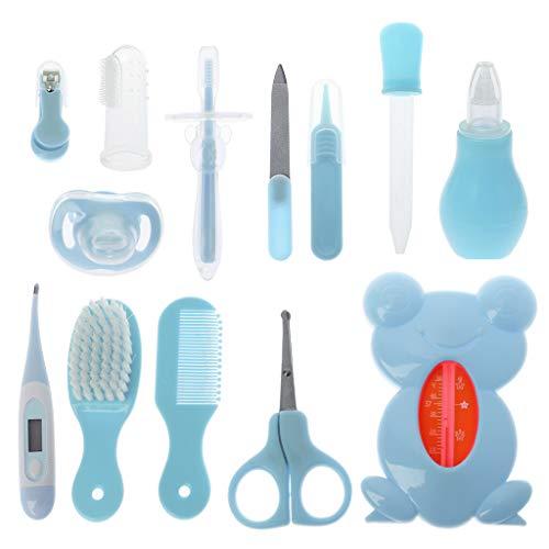 Lazder Babypflege-Set, 13 Teile, für zu Hause und unterwegs, Baby Pflegeset Erstausstattung,Babypflegen für Baby (Blau)