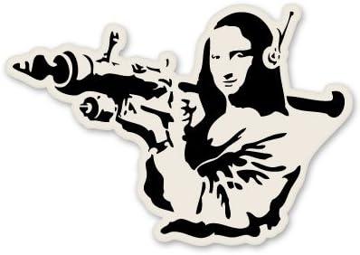 BANKSY MONA LISA MOONING WALL MURAL TRANSFER ART STICKER Cool Black Sticker New