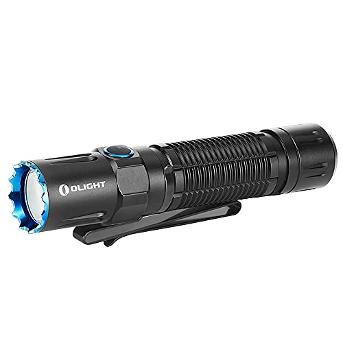 Olight M2R Pro Warrior 1800 Lumens USB Magnetic Rechargeable Dual Switches Tactical Flashlight with 300 Meters Beam Distance, Powered by 5000mAh 21700 Battery(Black)