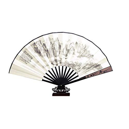 HUIJUNWENTI Ventilador Plegable Macho, Abanico de Papel, Regalo Creativo Vintage Chino Antiguo,...