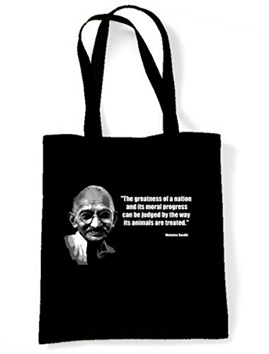 Gandhi Vegetarian Quote Tote/Shoulder Bag