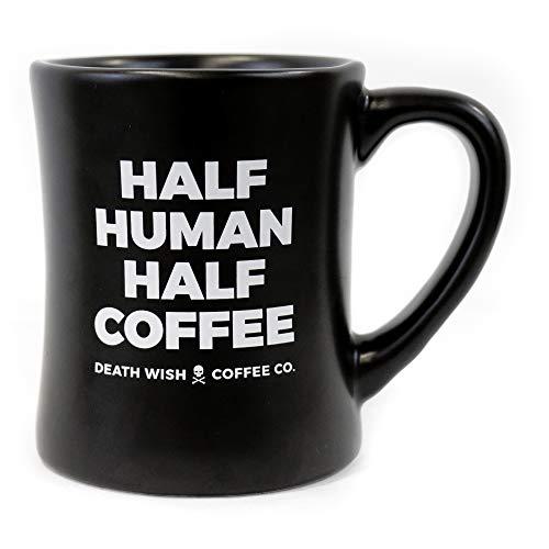 DEATH WISH COFFEE Ceramic Coffee Mug [14 oz] Strongest Coffee In The World