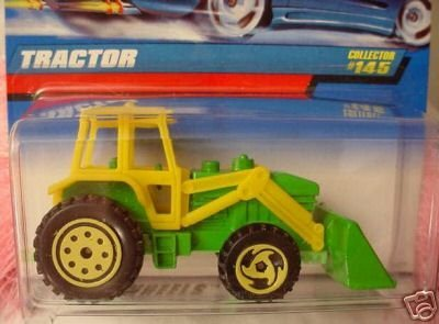Hot Wheels Mattel 1998 1:64 Scale Green & Yellow Tractor Die Cast Car Collector #145