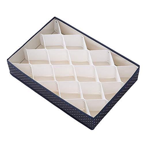 Gaoominy Caja de Almacenamiento Multifuncional CajóN SeparacióN Ropa Interior Calcetines Caja de Almacenamiento Armario Caja de Almacenamiento Almacenamiento de Joyas Azul