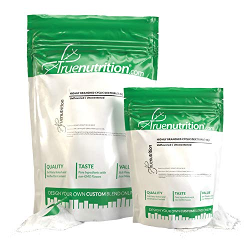 True Nutrition - Highly Branched Cyclic Dextrin - Cutting-Edge Carbohydrate Powder for Sustained Intra-Workout Energy and Enhanced Post-Workout Nutrition - Vegan and Non-GMO - Unflavored 1lb