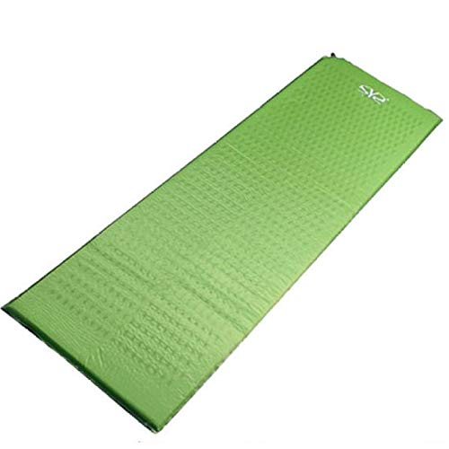 YSYW Einzelne Aufblasbare Isomatte Selbstaufblasende Leichte Schlafsackmatratze,Green