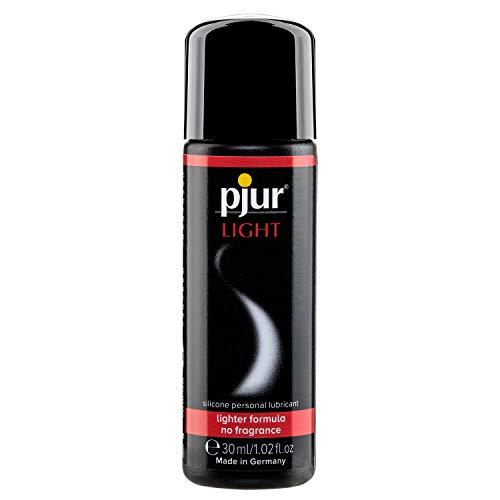 pjur LIGHT - Lubricante y gel de masaje de silicona - fórmula ligera para una lubricación extralarga y más placer en el sexo (30ml)
