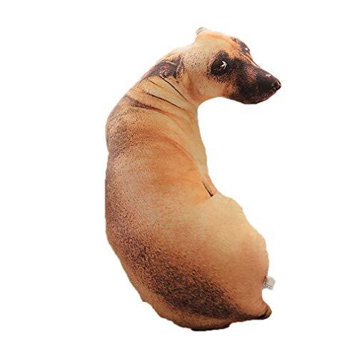 WEQQ Almohada de Perro de simulación 3D Shapi Cojín de Felpa dálmata Almohada de Siesta de Oficina (multicolorhound)
