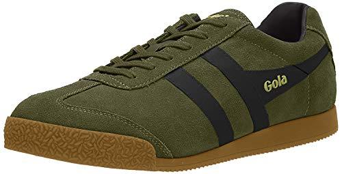 Gola Herren Harrier Suede Sneaker, Green (Khaki/Black Nh), Gr. 41