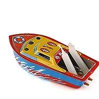 キャンドルボートホームデコレーション、ビンテージボートスチームパワードコレクタブルグッズボート教育リサイクルレトロブリキボート新しいリリース形が独特で外観が美しい。