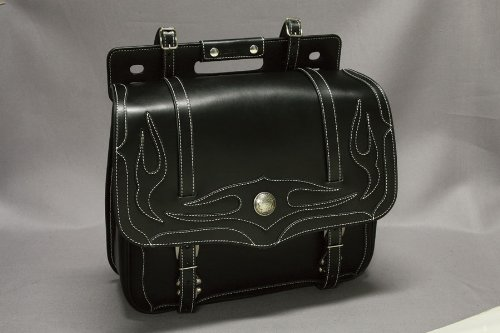 Check Out This Degner saddle bag leather 4mm thickness 38x45x16.5cm Black SB-29