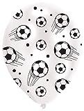 Amscan INT995704 - Latexballons Fußball, 6 Stück, Größe circa 27,5 cm, WM, EM, Public Viewing, Kindergeburtstag