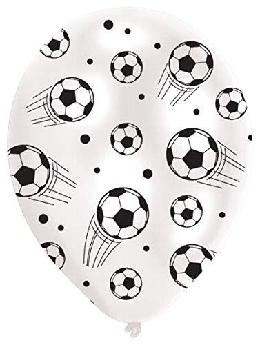 amscan INT995704 6 Latexballons Fußball, Weiß