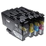 vhbw 4x cartucce con chip compatibile con brother hl-j6000dw, hl-j6100dw, mfc-j5945dw, mfc-j6945dw, mfc-j6947dw (c/m/y/b - set per stampante