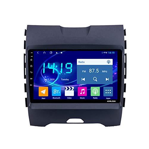 ADMLZQQ para Ford Edge Ranger 2015-2018 Car Radio Stereo, Navegación GPS 9 Pulgadas Android 10.0, FM/RDS/Bluetooth/Cámara De Visión Trasera/Controles del Volante,4 Core,4G+WiFi: 2+32G