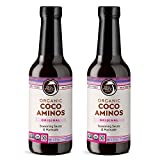 Big Tree Farms Organic Coco Aminos, Original Flavor, Soy Free, Vegan, Gluten Free, Paleo, Certified Kosher, Whole30, Non GMO, Low Glycemic, Low Sodium, Sauce & Marinade Substitute, 10 oz (Pack of 2)