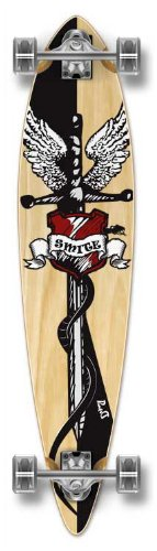 Yocaher Punked Stained Patineta de Tabla Larga Pintail Completa