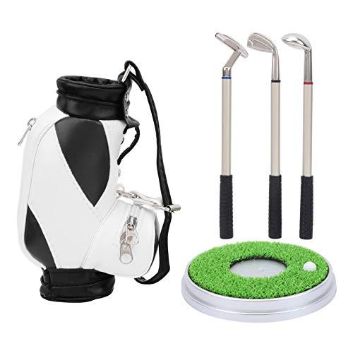 SALUTUY con Tres bolígrafos de Golf Regalo de Escritorio de Golf Seguro y no, como Regalo de Recuerdo(Black and White)