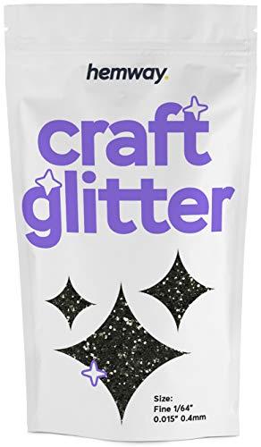 """Hemway Negro Craft brillo 100g FINA 3,5 oz 1/64"""" 0,015"""" 0.4MM de Artes Oficios Vasos de papel de cristal decoraciones diy de Proyectos"""