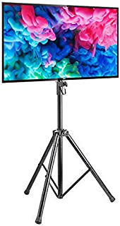 Rife Tilting TV Mount with Portable Tripod Stand Black 32 to 55 inch LCD LED Flat Screen TV Display Floor Stand | Portable...