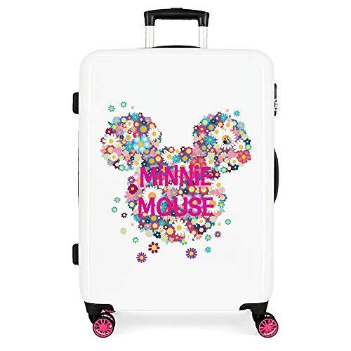 Disney Minnie Sunny Day Maleta mediana Rosa 45x68x26 cms Rígida ABS Cierre combinación 70L 3,7Kgs 4 Ruedas dobles