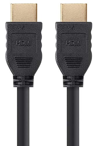 Monoprice 113781 High Speed HDMI Cable - 10 Feet - Black | No Logo, 4K @ 60Hz, HDR, 18Gbps, YUV 4:4:4, 30AWG, CL2 - Commercial Series