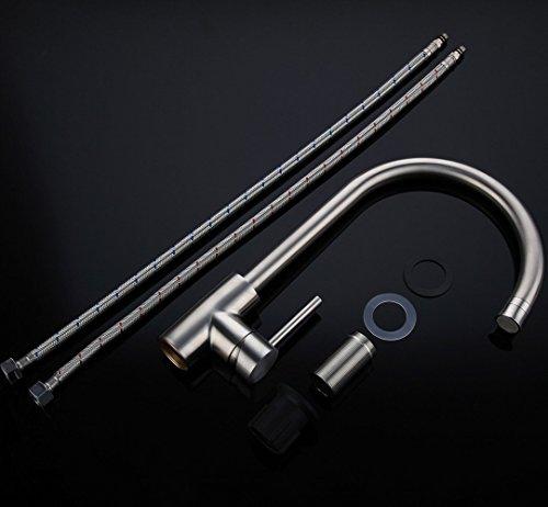 Homelody Wasserhahn Küche mit Brause Küchenarmatur 360° schwenkbar/drehbar Auslauf Spültischarmatur Spülbecken Spültisch Armatur Mischbatterie für Küche - 5