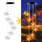 Wind Chimes Outdoor, Solar Wind Chime Star LED Lights Color Changing, Windchimes Unique Outdoor Waterproof, Gifts for Mom, Grandma, Neighbors, Kids, for Garden Patio Home Decoration