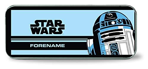 Star Wars R2 D2 Pop-Art Bleistiftdose, Metall, personalisierbar