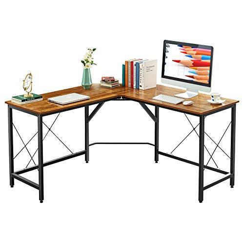 Mr IRONSTONE - Scrivania ad angolo per computer da 149,9 cm, scrivania da gioco per la casa, postazione di lavoro, salvaspazio