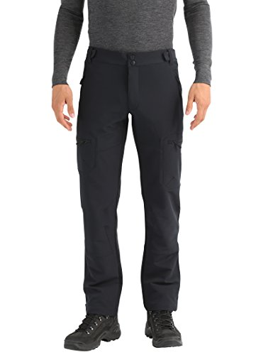 Lower East Pantalones softshell de hombre, Negro, L