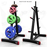 "We R Sports Standard Weight Plate Tree Rack Stand Storage for 1"" Plates Discs 8 Storage Spcaes -"