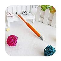 シンプルな1ピース多機能ボールペン文房具ボールペンスタイラスペンタッチペン色オイリーブラック-j-