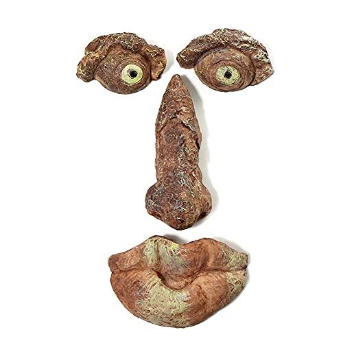 liuwei Escultura de cara de árbol de hombre viejo divertido ladrido fantasma cara en forma de árbol monstruo características faciales jardín fiesta apoyo al aire libre patio adornos arte decor
