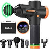 Lnchett Massage Gun, Professional Handheld Massage Gun for Body Relaxation and Pain Relief, 20 Speed, with 6 Heads and Solid Aluminum Carrying Case
