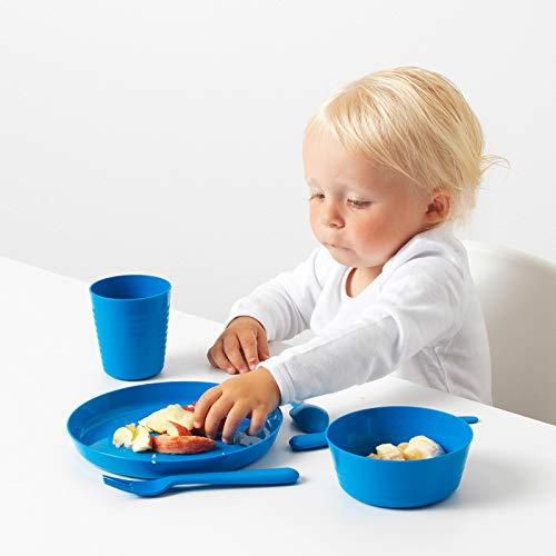 IKEA Kinderteller-Set 'Kalas' Kinderteller Mikrowellengeeignet und Spülmaschinenfest (2x 6er Pack)