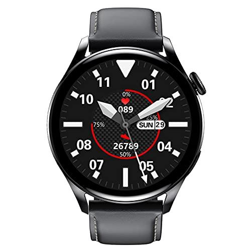 HQPCAHL Smartwatch Bluetooth con Respuesta A Llamadas con Reloj Inteligente De Gama Alta Resistente Al Agua IP68 De Moda, hasta Nivel IP68 para Android,E