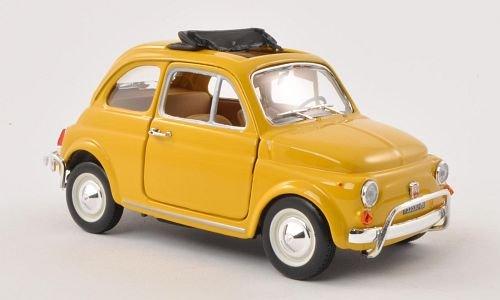 Fiat 500 L , dunkelgelb, 1968, modello di automobile, modello prefabbricato, Bburago 1:24 Modello esclusivamente Da Collezione