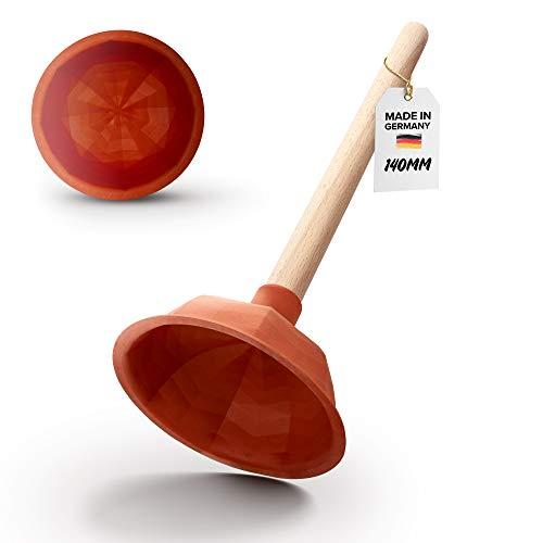 Abrush Pömpel für Toilette, Dusche & Küche | 140mm Abflussreiniger (Made in Germany) | Universal-Saugglocke für jeden Abfluss | Ausgussreiniger Pümpel aus Gummi |...